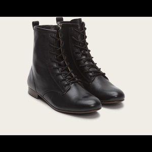 Frye Jillian Lace-Up Leather Booties
